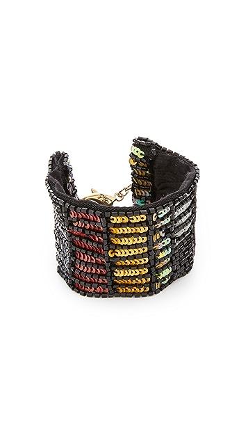 Lulu Frost Josephine Sequin & Silk Bracelet