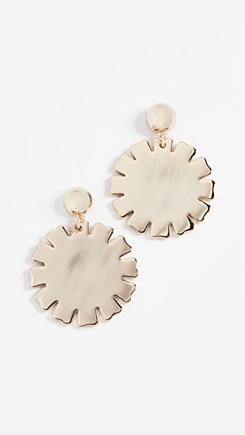 multi gold metallic daisy earrings gabbana jewelry dolce lyst product in normal embellished