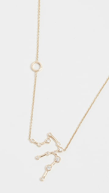 Lulu Frost 14k Gold Aquarius Necklace with White Diamonds
