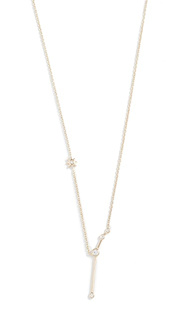 Lulu Frost 14k Gold Aries Necklace with White Diamonds