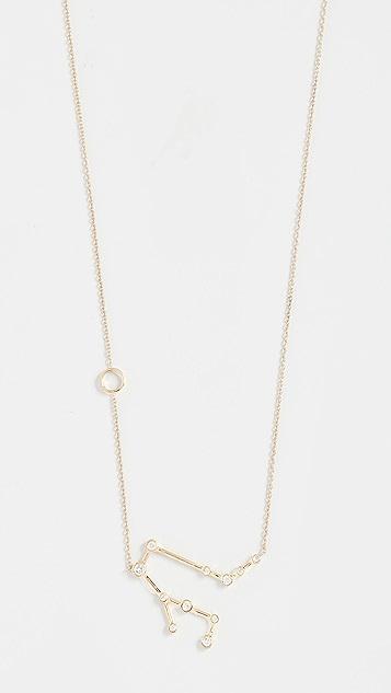 Lulu Frost Колье Gemini из 14-каратного золота с белыми бриллиантами