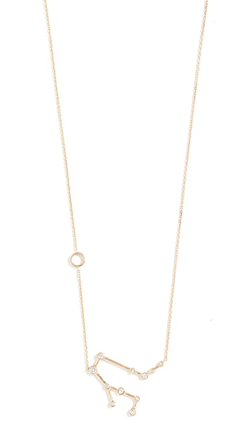 Lulu Frost 14k Gold Gemini Necklace with White Diamonds