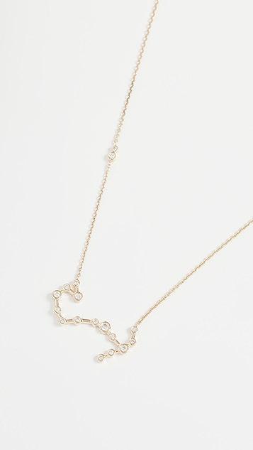 Lulu Frost 14k Gold Scorpio Necklace with White Diamonds