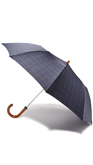 London Undercover Window Pane Telescopic Umbrella with Maple Handle