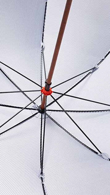 London Undercover Stick Umbrella with Contrast Interior