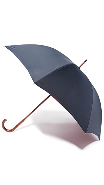 London Undercover Baracuta Contrast Interior Stick Umbrella