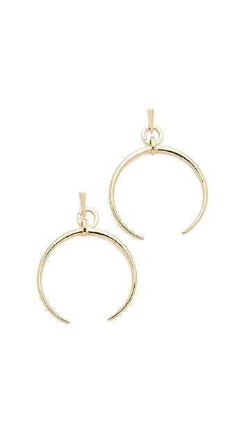 Luv Aj Oversized Crescent Hoop Earrings