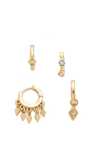 Evil Eye Hoop Huggie Earrings in Gold Luv AJ gnU7Vn7