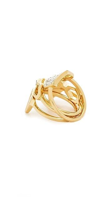 Luv Aj The Pave Shield Ring Set