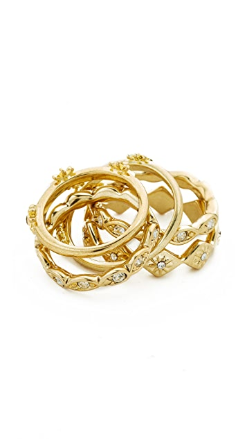 Luv Aj The Revel Starburst Ring Set