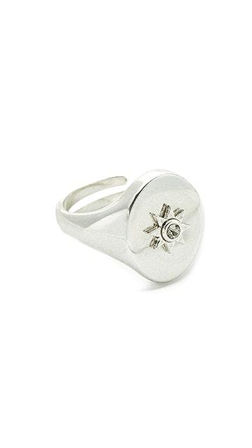 Luv Aj The Revel Starburst Signet Ring