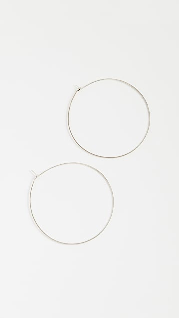 Luv Aj Capri Hoop Earrings