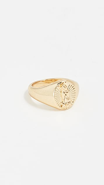 Luv Aj Кольцо на мизинец Saint Mary с печаткой