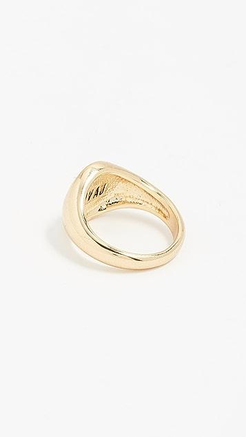 Luv Aj Saint Mary Signet Pinky Ring