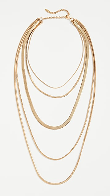 Luv Aj The Cascading Snake Chain Necklace