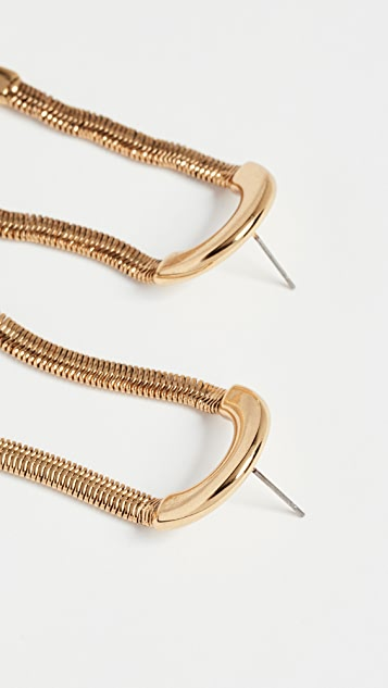 Luv Aj The Snake Chain Loop Stud Earrings