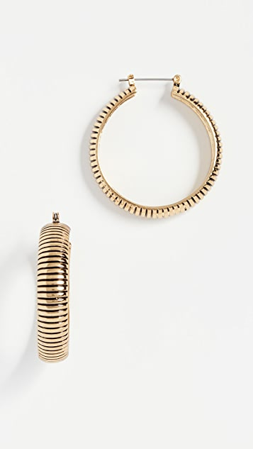 The Snake Chain Hoop Earrings by Luv Aj