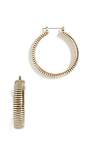 Luv Aj The Snake Chain Hoop Earrings