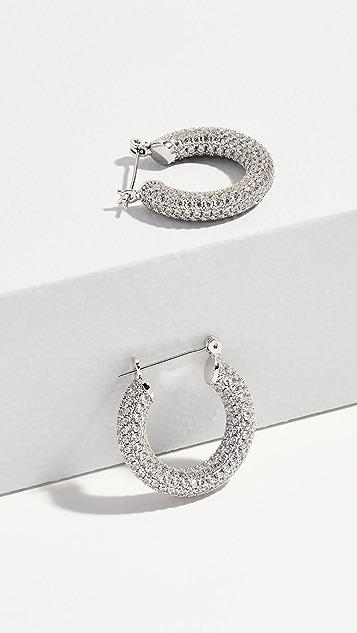 Luv Aj Серьги-кольца Baby Amalfi с паве