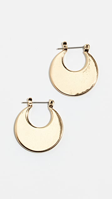 Luv Aj Eliptical Hoop Earrings