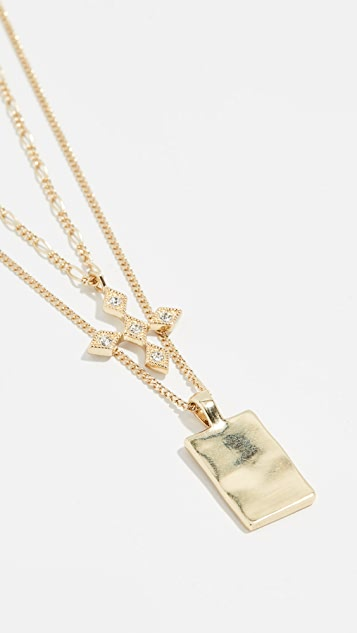 Luv Aj The Diamond Kite Dog Tag Necklace