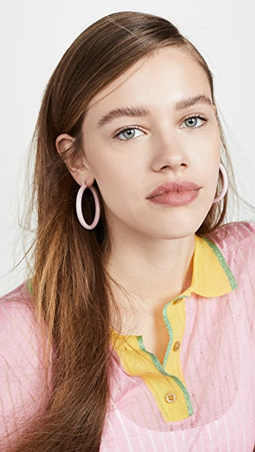 Luv Aj The Rainbow Amalfi Hoop Earrings
