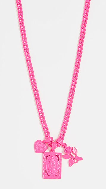 Luv Aj The Rainbow Triple Charm Necklace