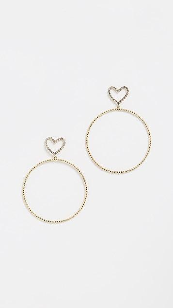 Luv Aj The Dotted Heart Hoop Earrings