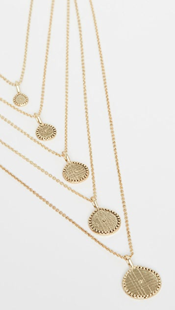 Luv Aj The Multi Coin Charm Necklace