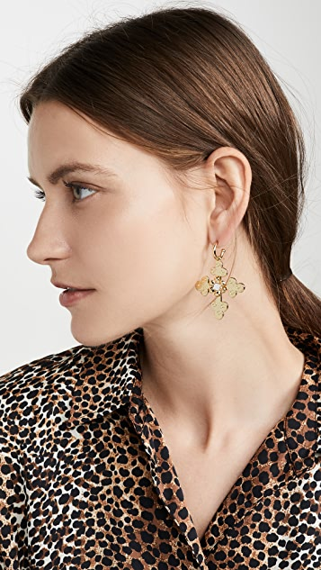Luv Aj The Etched Flora Earrings