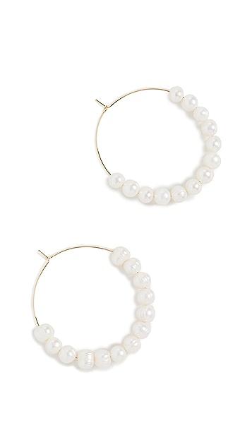 Luv Aj 层叠珍珠圈式耳环
