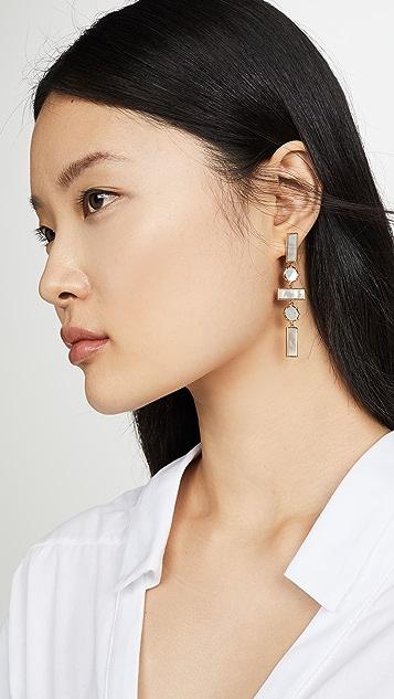 Luv Aj The Mother of Pearl Mosaic Drop Earrings