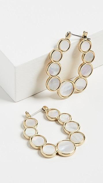 Luv Aj 珍珠贝母圆形圈式耳环