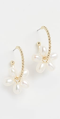 Luv Aj - Pearl Gold Washer Hoops