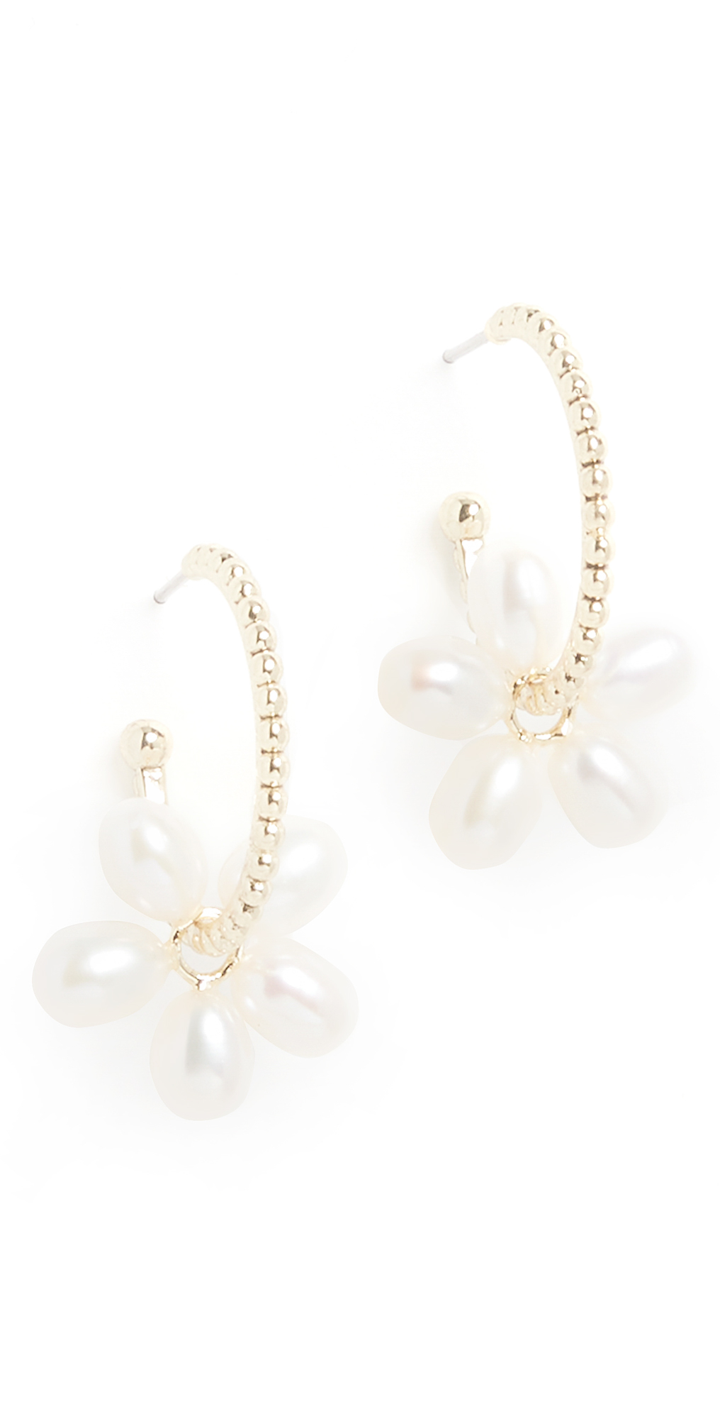 Pearl Gold Washer Hoops