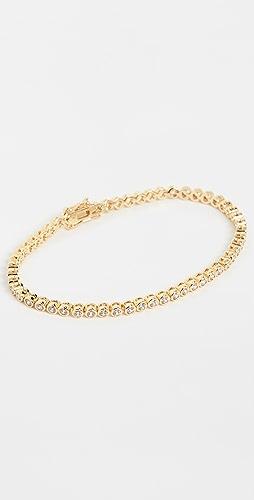Luv Aj - Ballier Bezel Tennis Bracelet- Gold