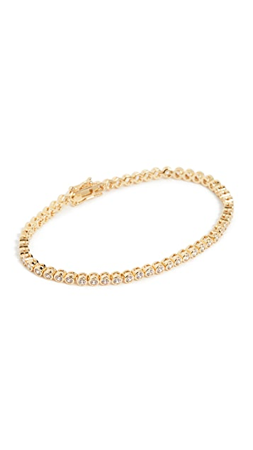 Luv Aj Ballier Bezel Tennis Bracelet- Gold
