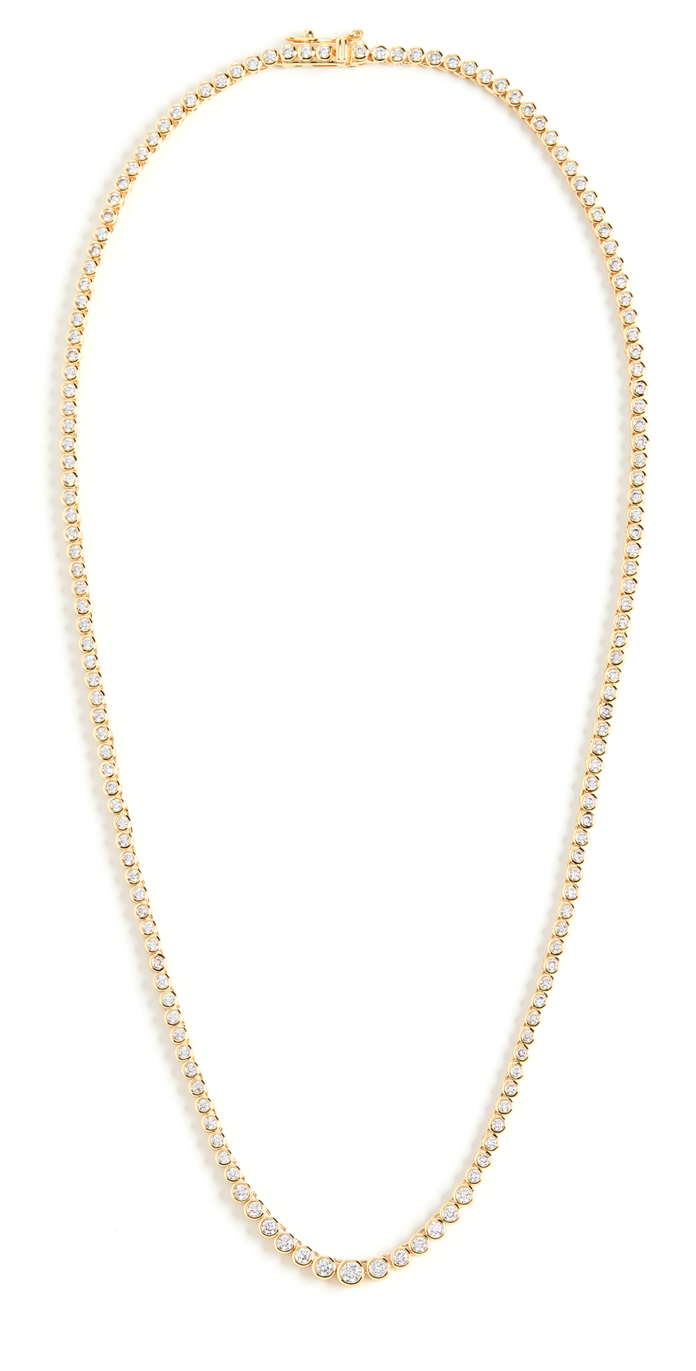 Ballier Gold Bezel Tennis Necklace