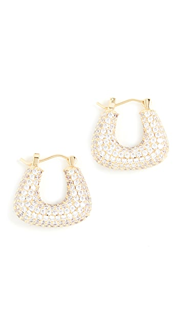 Luv Aj Pave Tia Gold Hoops