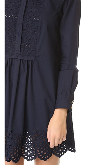 La Vie Rebecca Taylor Long Sleeve Lace Dress