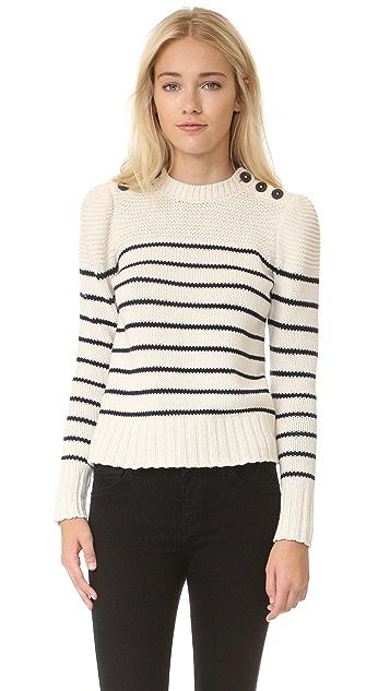 La Vie Rebecca Taylor Хлопковый пуловер в полоску