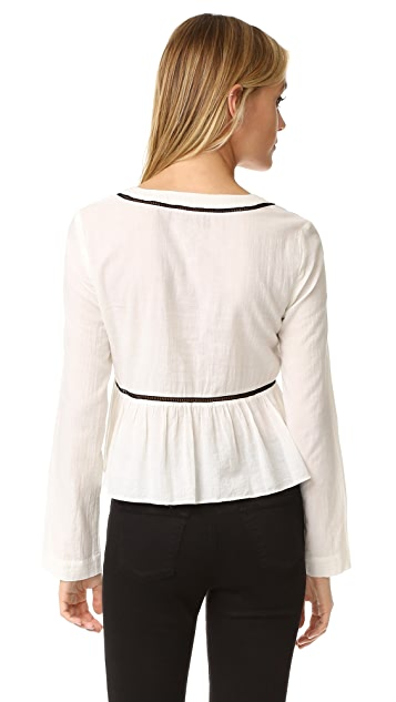 La Vie Rebecca Taylor Winter Gauze Tuck Blouse
