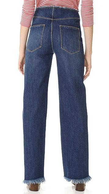 La Vie Rebecca Taylor Raw Edge Denim Jeans