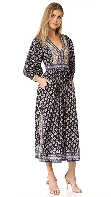 La Vie Rebecca Taylor Long Sleeve Indienne Dress