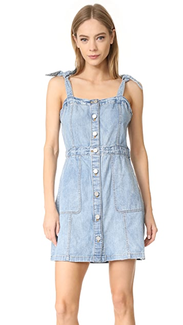 f8781bf2dca La Vie Rebecca Taylor Strappy Denim Dress