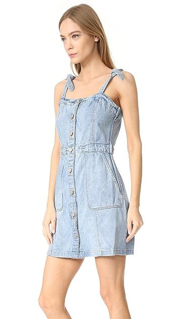 La Vie Rebecca Taylor Strappy Denim Dress
