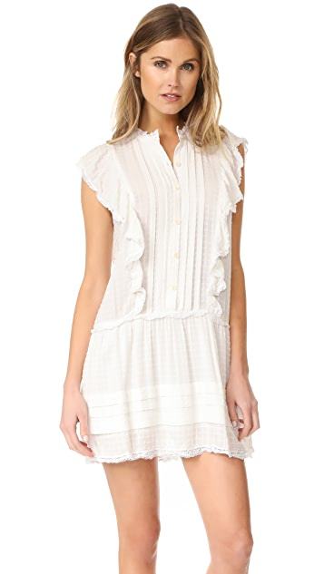 La Vie Rebecca Taylor Sleeveless Ruffle Dress