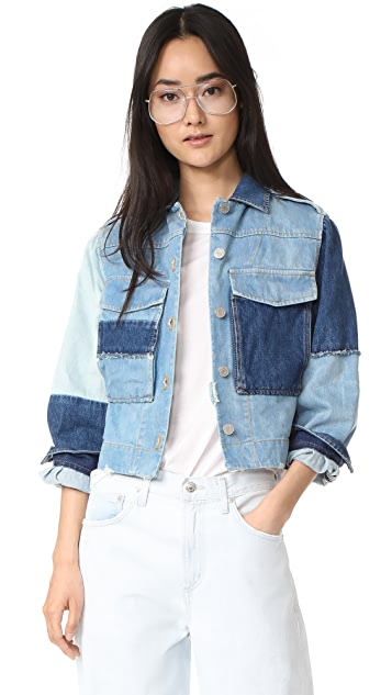 La Vie Rebecca Taylor Patched Denim Jacket