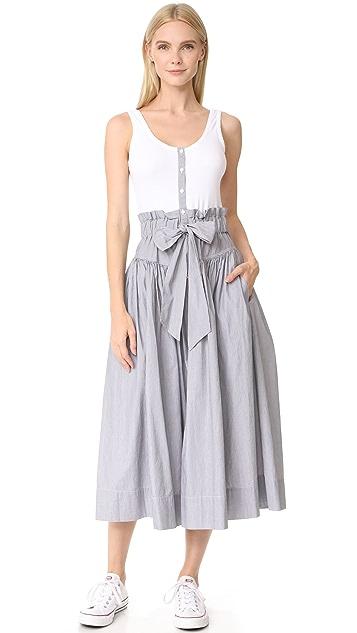 La Vie Rebecca Taylor Sleeveless Pop Dress With Rib