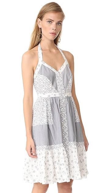 La Vie Rebecca Taylor Sleeveless Breeze Halter Dress